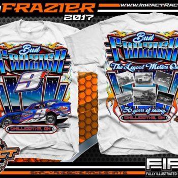 Bud Frazier Dirt Modified Racing T-Shirts White