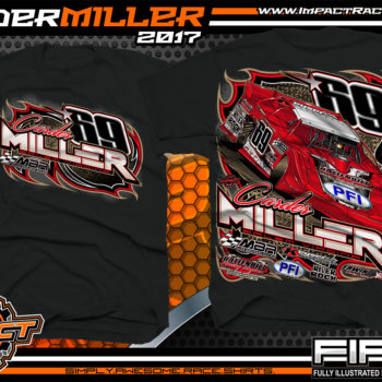 Carder Miller Super Dirt Late Model Dirt Racing Shirt Black