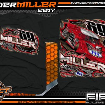 Carder Miller Super Dirt Late Model Dirt Racing Shirt Black