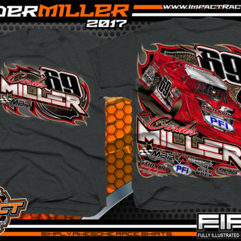 Carder Miller Super Dirt Late Model Dirt Racing Shirt Dark Heather