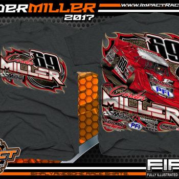 Carder Miller Super Dirt Late Model Dirt Racing Shirt Dark Heather