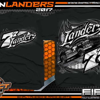 Gavin Landers Batesville Arkanasas Dirt Late Model Dirt Track Racing Shirts Black