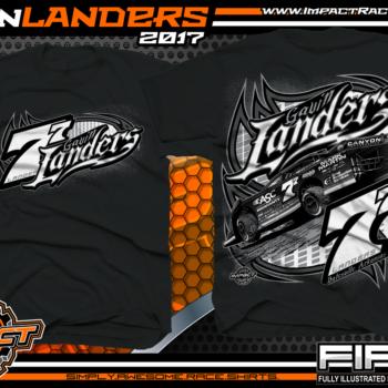 Gavin Landers Batesville Arkanasas Dirt Late Model Dirt Track Racing Shirts Black