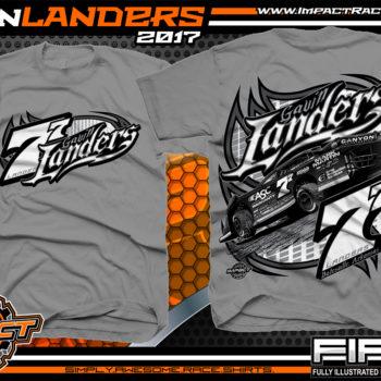 Gavin Landers Batesville Arkanasas Dirt Late Model Dirt Track Racing Shirts Medium Grey