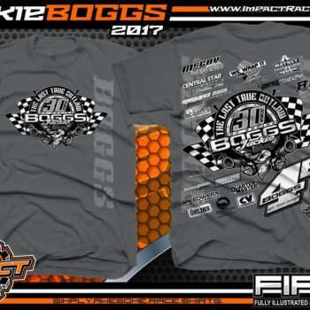 Jackie Boggs 30 years of Racing Dirt Late Model Racing Shirts Charcoal