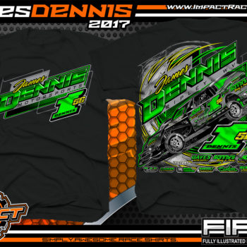 James Dennis AMRA Dirt Track Modified Race Shirt Black