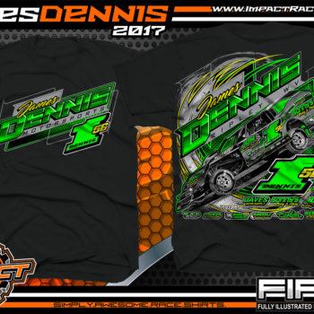 James Dennis AMRA Dirt Track Modified Race Shirt Black