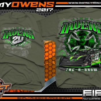 Jimmy Owens Lucas Oil Late Model Dirt Series Dirt Late Model T-Shirt