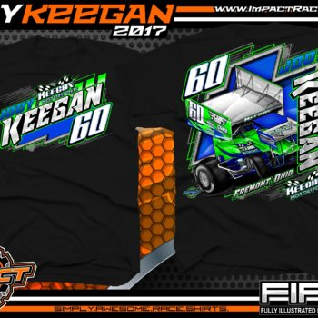 Jody Keegan Outlaw Winged Sprint Car Shirts