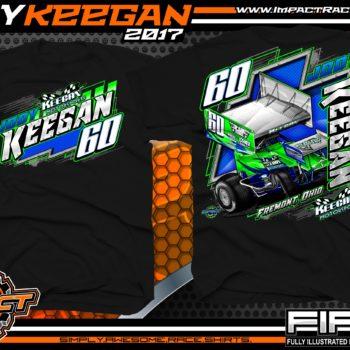 Jody Keegan Outlaw Winged Sprint Car Shirts