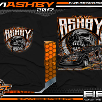 Levi Ashby Tennessee Dirt Late Model Racing T-Shirt Black