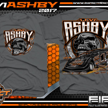 Levi Ashby Tennessee Dirt Late Model Racing T-Shirt Charcoal