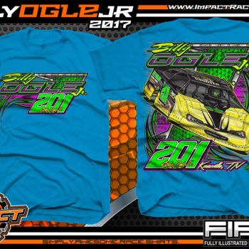 Billy Ogle Lucas Oil World Of Outlaws Dirt Late Model Custom Racing Shirts Sapphire