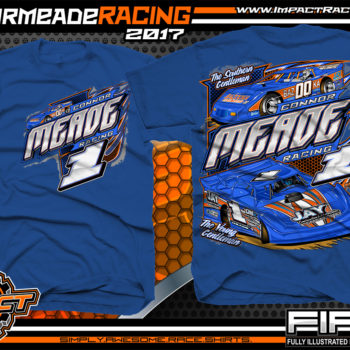 Connor Meade Kentucky Freddy Smith Dirt Late Model Custom Race Shirts Royal