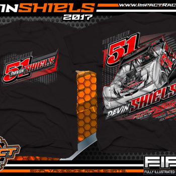 Devin Shiels Lucas Oil Dirt Late Model Dirt Track Racing Shirts Black