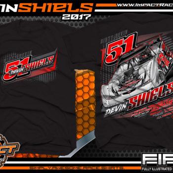 Devin Shiels Lucas Oil Dirt Late Model Dirt Track Racing Shirts Black
