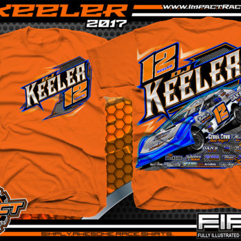 Dj Keeler Custom Race Shirts Orange - Copy