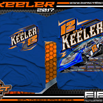 Dj Keeler Custom Race Shirts Royal - Copy