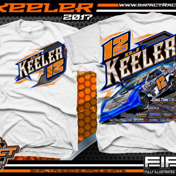 Dj Keeler Custom Race Shirts White - Copy
