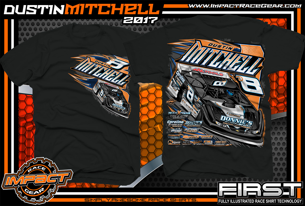 Dustin Mitchell North Carolina Dirt Late Model Custom Race