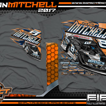 Dustin Mitchell North Carolina Dirt Late Model Custom Race Shirts Charcoal - Copy