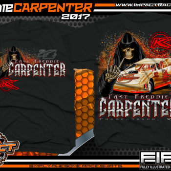 Freddie Carpenter West Virginia Dirt Late Model Custom Race Shirts Black - Copy