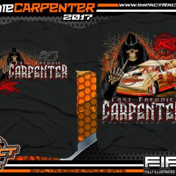 Freddie Carpenter West Virginia Dirt Late Model Custom Race Shirts Black - Copy