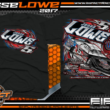 Jesse Lowe Tenneessee Dirt Late Model Custom Race Shirts Black - Copy