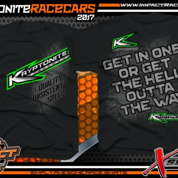 Kryptonite Race Cars Custom Dirt Racing Shirt