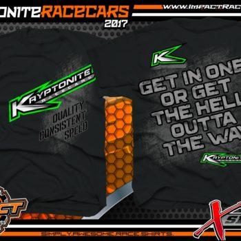 Kryptonite Race Cars Custom Dirt Racing Shirt