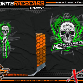 Kryptonite Race Cars Tyler Carpenter Freddie Carpenter Dirt Late Model Race Shirts Green