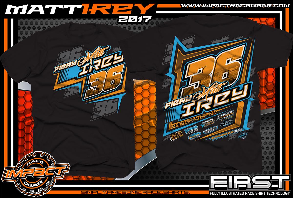 33c033260 Matt Irey Ohio Dirt Late Model Custom Race Shirts - Impact RaceGear