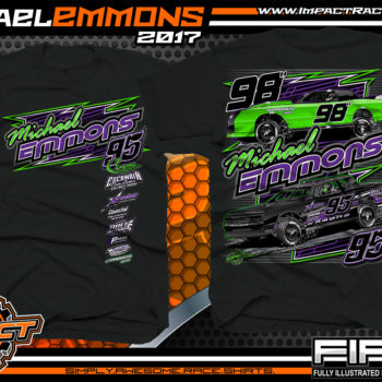 Michael Emmons Florida Custom Race Shirts Black - Copy