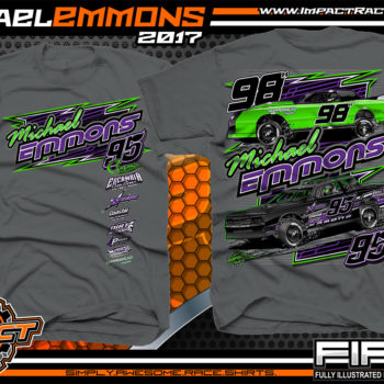 Michael Emmons Florida Custom Race Shirts Charcoal - Copy