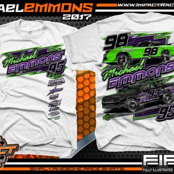 Michael Emmons Florida Custom Race Shirts White - Copy