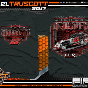 Michael Truscott Dirt Track Modified Custom Race Shirts - Copy