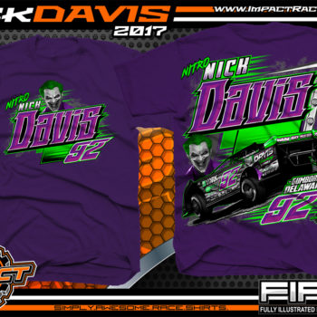 Nick Davis Delaware Dirt Late Model Shirts - Copy
