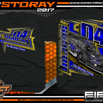 Ray Storay Lucas Oil Dirt Late Model Dirt Track Racing Shirts Black