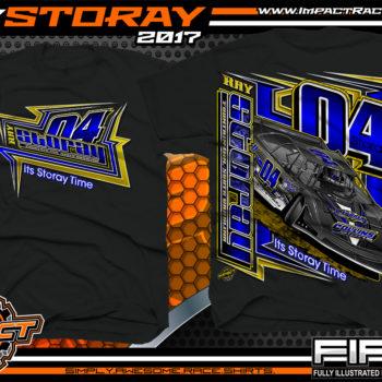 Ray Storay Lucas Oil Dirt Late Model Dirt Track Racing Shirts Black