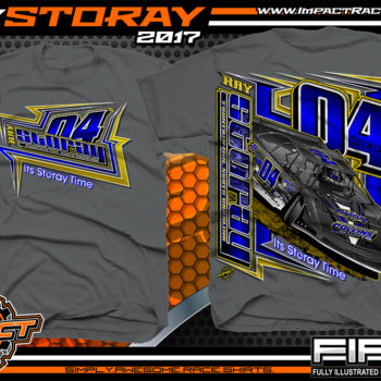 Ray Storay Lucas Oil Dirt Late Model Dirt Track Racing Shirts Charcoal