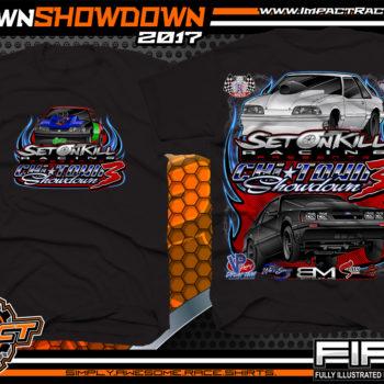 Set On Kill Custom Drag Racing Shirts Black