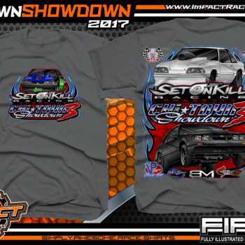 Set On Kill Custom Drag Racing Shirts Charcoal - Copy