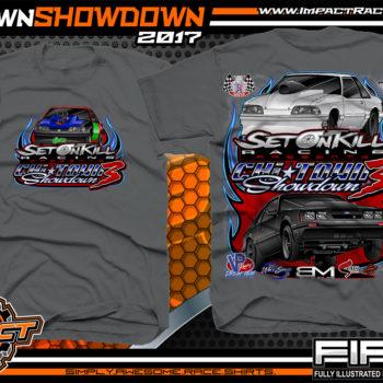 Set On Kill Custom Drag Racing Shirts Charcoal - Copy