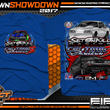 Set On Kill Custom Drag Racing Shirts Royal - Copy