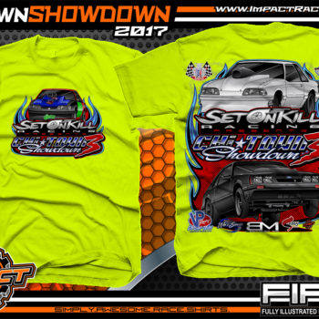Set On Kill Custom Drag Racing Shirts Safety Yellow - Copy