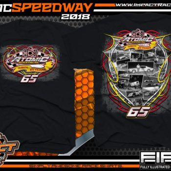 Atomic Speedway Dirt Track Winged Sprint Car Track Shirts Black