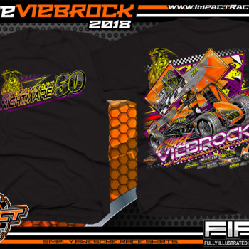 Chase Viebrock Wisconsin Outlaw Winged Sprint Car World Of Outlaws All Star Sprints Dirt Track Racing Shirts Black