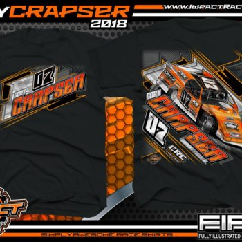 Cory Crapser Wisconsin USMTS Dirt Track Modified Racing Shirts Black