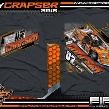 Cory Crapser Wisconsin USMTS Dirt Track Modified Racing Shirts Dark Heather