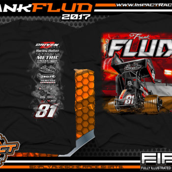 Frank Flud Tulsa Shootout Chili Bowl Oklahoma Sprint Car Racing Shirt